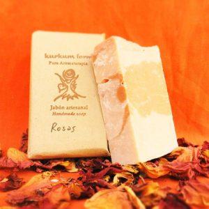 Jabón artesanal de Rosas