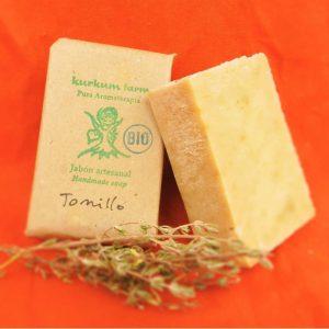 Jabón artesanal de tomillo
